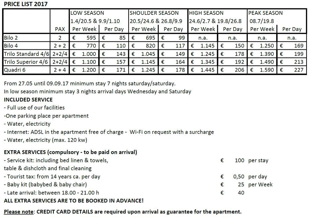 Rates and conditions - VivaCaViva Resorts - Garda Lake Holiday ...